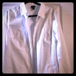 Worthington White Button down blouse size 16